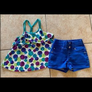 Girls justice Top & Shorts Outfit 7